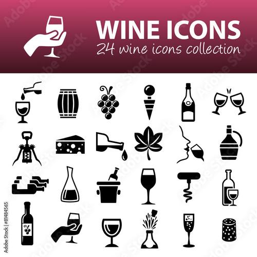 Valokuva wine icons