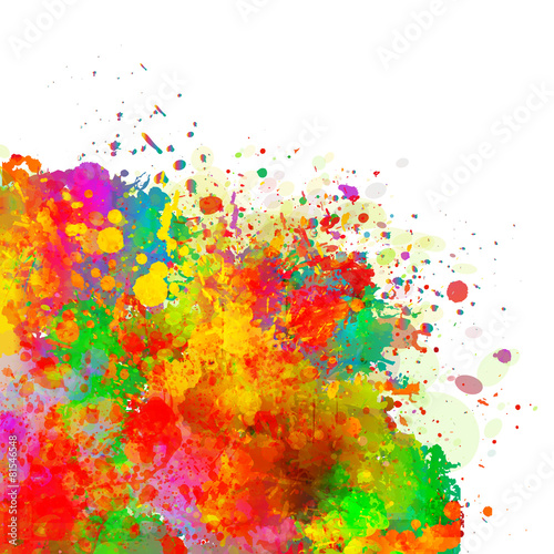 Abstract colorful splash watercolor background. #81546548