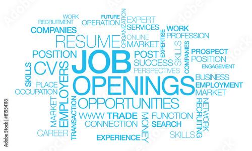Job openings recruitment positions tag cloud career #81554118