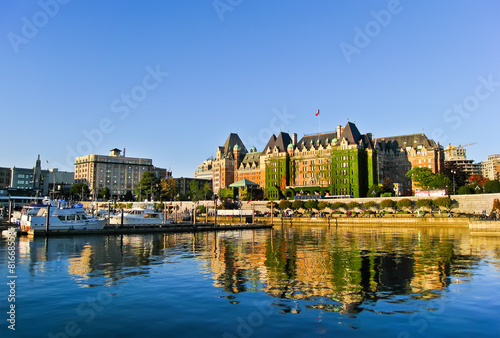 Photo View of Inner Harbour of Victoria, Vancouver Island.