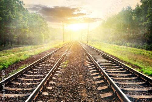 Photo Fog over railroad