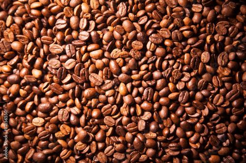 Fototapeta premium Tekstury fasoli kawowy zbliżenie