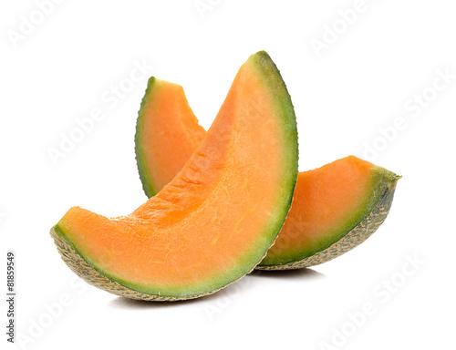 Carta da parati cantaloupe melon isolated on white background