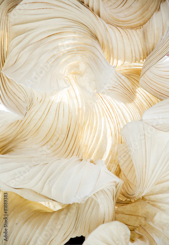 Abstract shapes of paper ornamental object