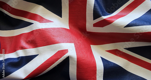 Canvas Print Flag with wrinklescolorful British flag