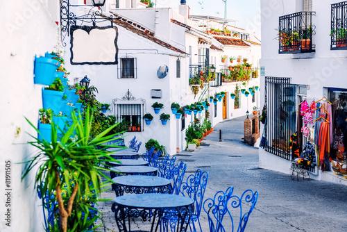 Foto Mijas street. Charming white village in Andalusia