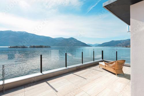 Photo modern architecture, beautiful terrace