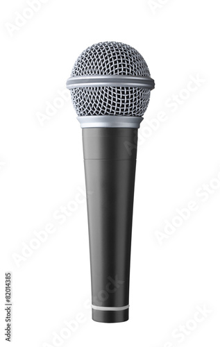 Stampa su Tela microphone isolated on white background