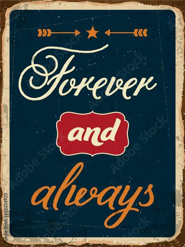 retro-napis-na-zawsze-i-zawsze