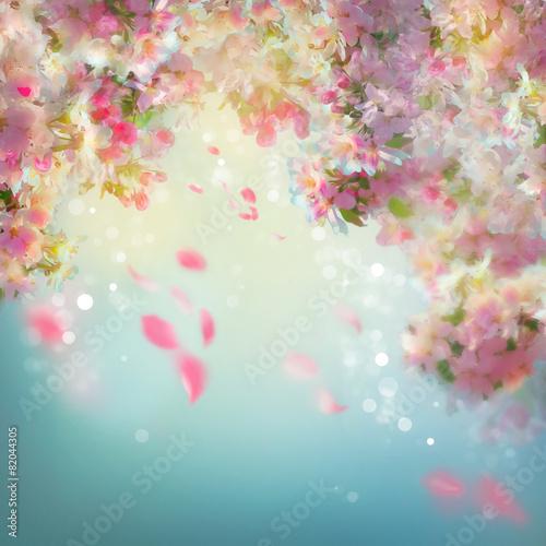Tło wiosna wiśnia kwiat