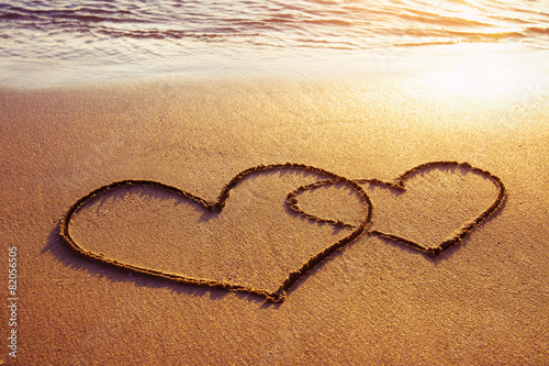 valentines day on the beach