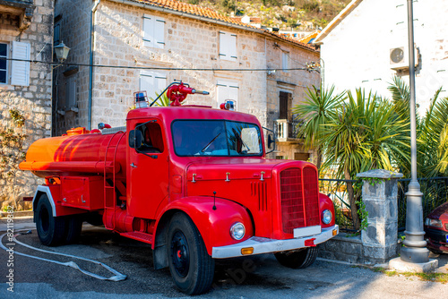Canvas-taulu Old fire truck