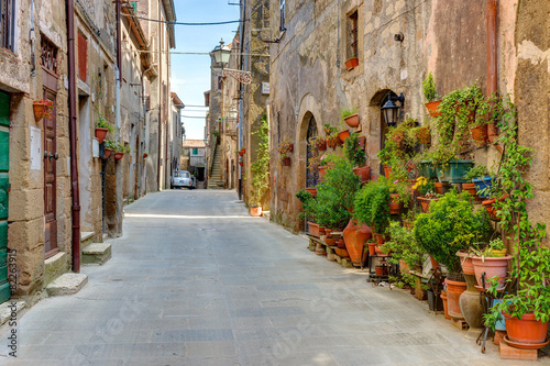 Alley old town Tuscany Italy #82263915