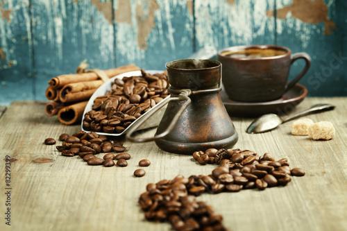 Coffee composition Fototapet