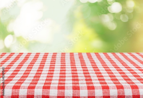 Wallpaper Mural Picnic. Empty table for Your photomontage or product display.