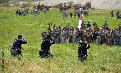 Leinwand Poster American Civil war 1861-1865