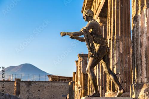 Canvas Print Pompeii city