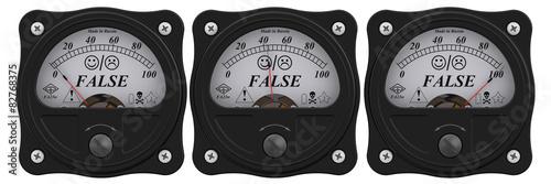 Fotografering Indicator of false