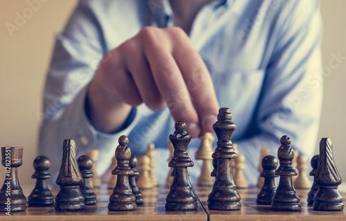 Fotografie, Obraz Šachová hra