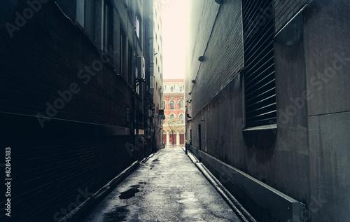 Tela Dark alley in Toronto, Canada