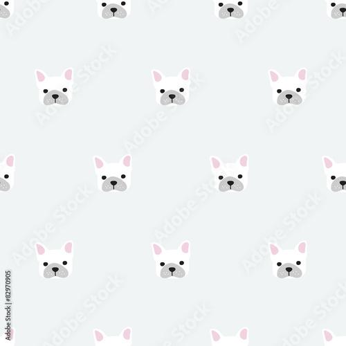 seamless french bulldog pattern