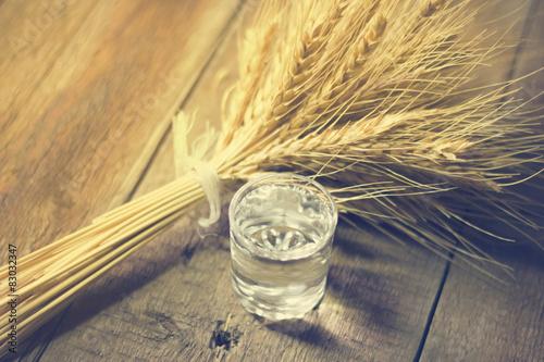 Obraz na płótnie vodka and grain