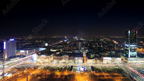 View of the center of Warsaw at night #83073398
