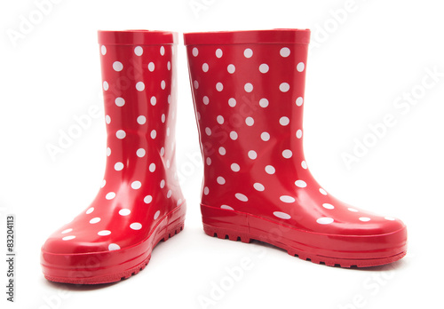 Canvastavla red boots