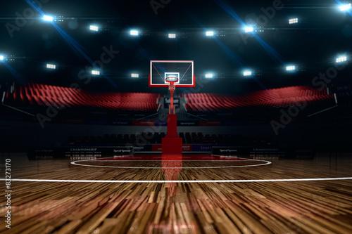 Basketball court. Sport arena.