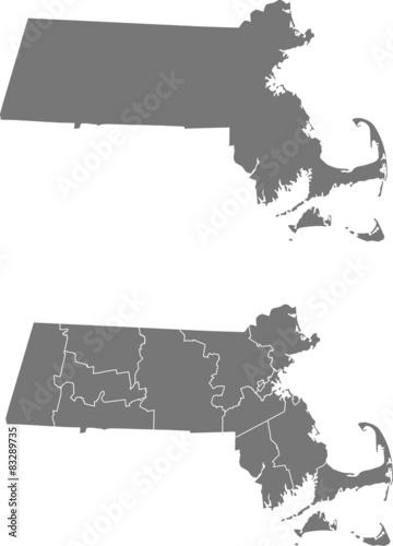 Fotografia map of Massachusetts