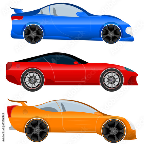 Set of Sports Car and Muscle Car фототапет