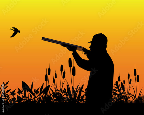 Fototapeta hunter