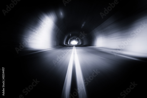 Motion blured old tunnel