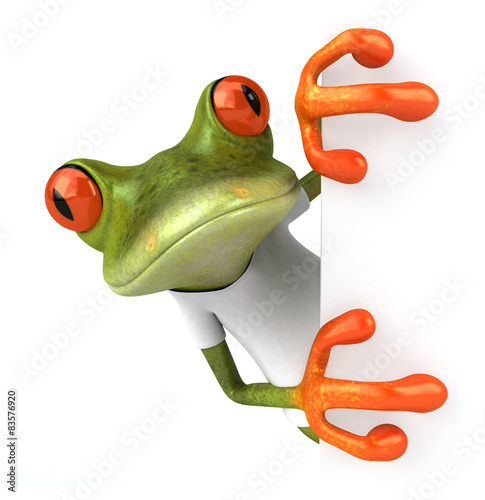 Frog with a white tshirt Fototapet