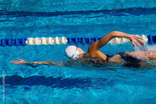 Canvas Print Swimming