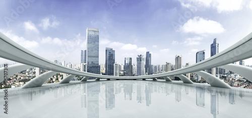 Naklejka na szafę Futurystyczna głębia i nowoczesna architektura