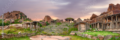 Stairs in the Hampi ancient hindu city