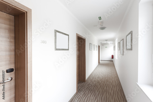 Fotografering hotel hallway