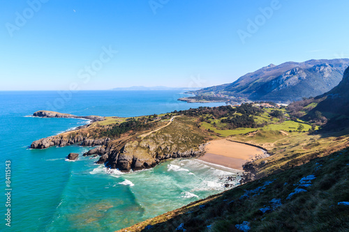 View of the beach of Sonabia, in Castro Urdiales, Spain