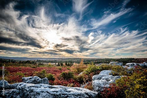 Dolly Sods Sunset in West Virginia Fototapeta