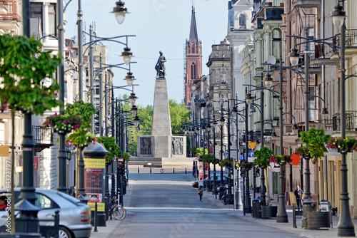 Ulica Piotrkowska- miasto Łódź.