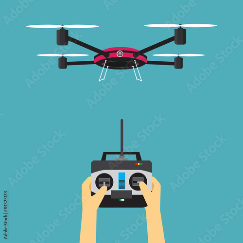 Fotomural Drone with remote control