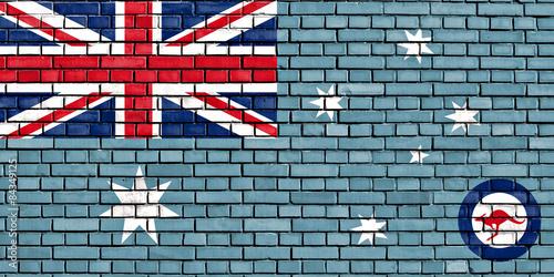 Obraz na płótnie Flaga Royal Australian Air Force malowane na mur z cegły