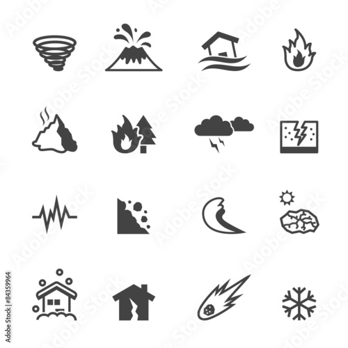 natural disaster icons Fototapete