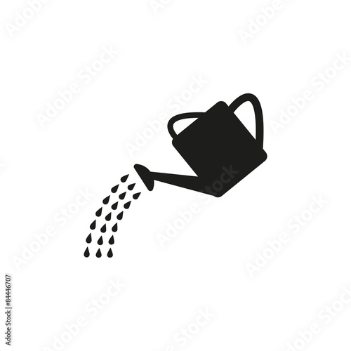 Fotografie, Obraz The watering can icon. Irrigation symbol. Flat
