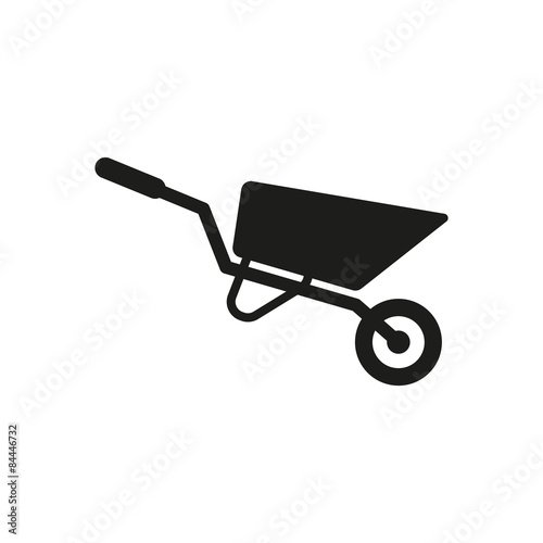 Canvas Print The wheelbarrow icon. Barrow symbol. Flat