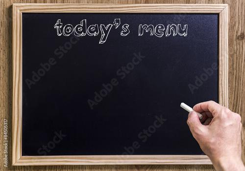 Fotografie, Obraz Today's menu