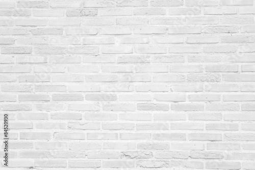 Biały grunge ściana z cegieł tekstury tło