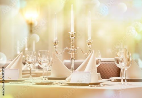 Carta da parati Exquisitely decorated wedding table