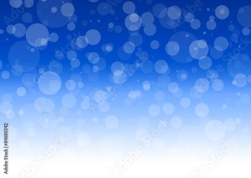 Schneeflocken auf blauem Hintergrund / Orbs Fototapete